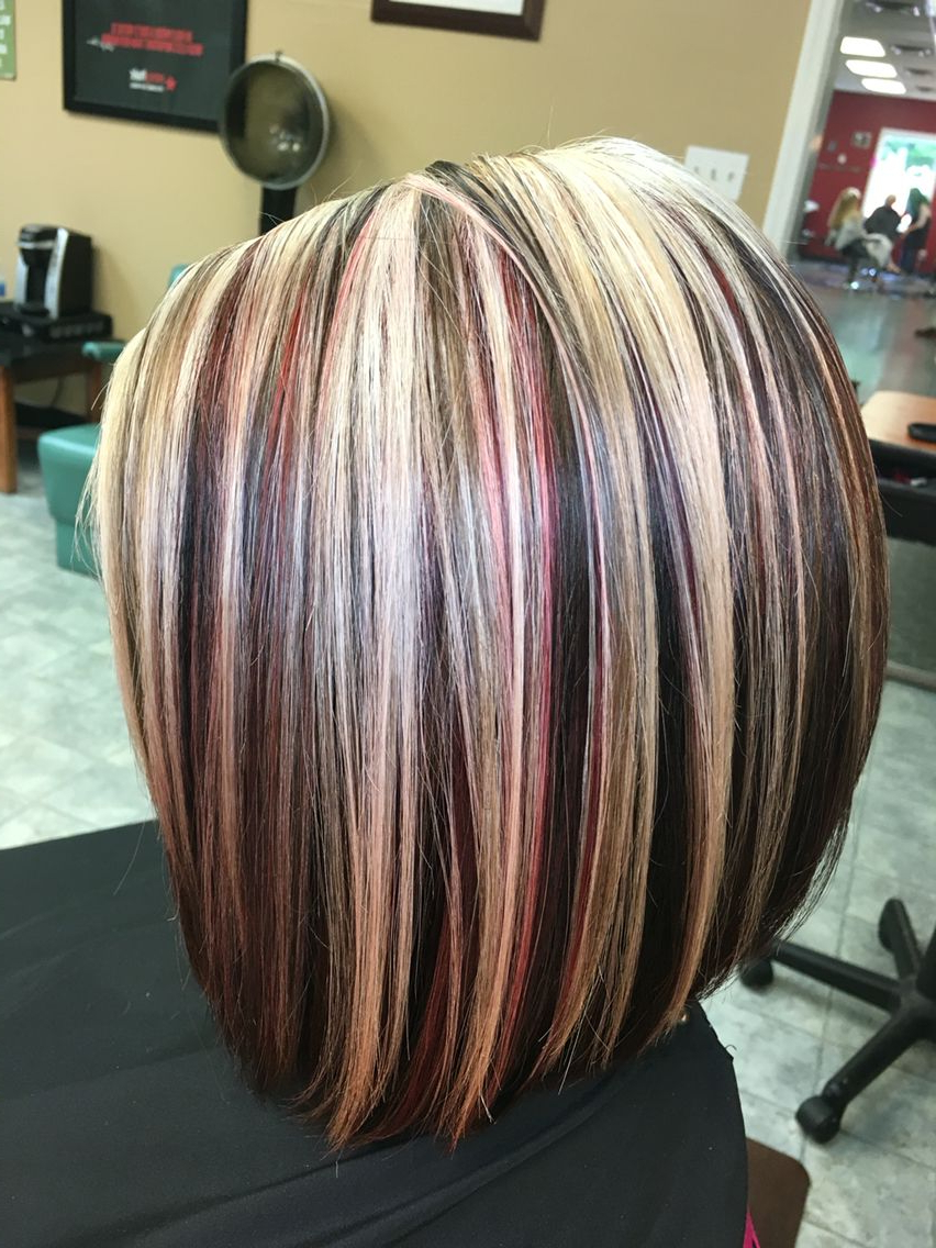 Highlights ,blonde ,red,and Brown Hairvictoria Sylvis | Hair Intended For Short Haircuts With Red And Blonde Highlights (View 19 of 25)