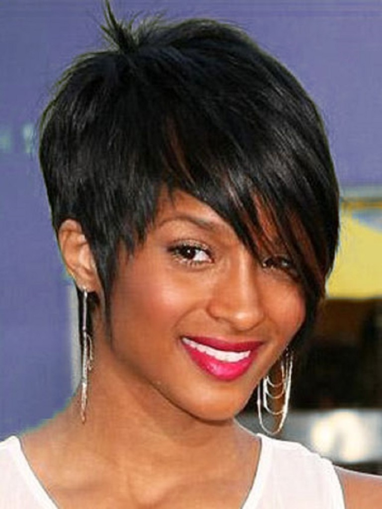 Highlights Hair Cutting For Awesome Short Hairstyles For Black Women Throughout Short Haircuts For Round Faces African American (View 25 of 25)