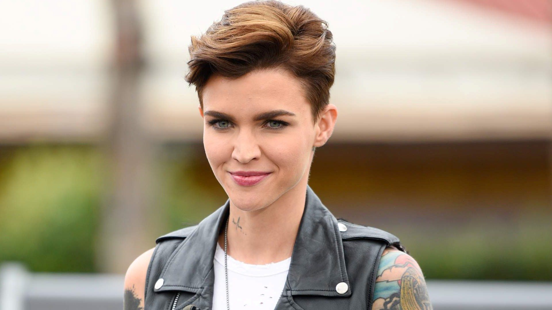 Hollywood Actress Ruby Rose In Short Hairstyle Hd Photo | Hd Wallpapers Intended For Ruby Rose Short Hairstyles (View 13 of 25)