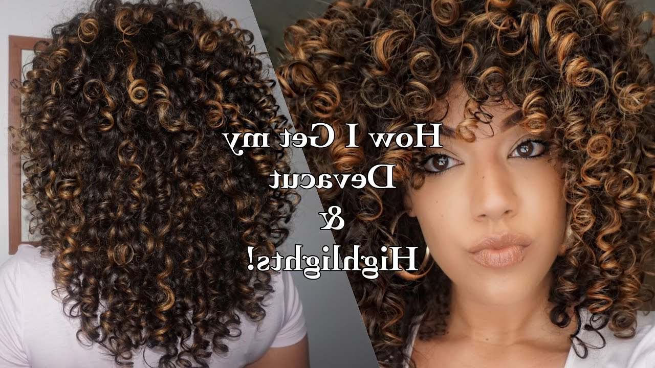 How I Get My Devacut & Pintura/ Balayage Highlights On Curly Hair Throughout Short Bob Hairstyles With Whipped Curls And Babylights (View 17 of 25)