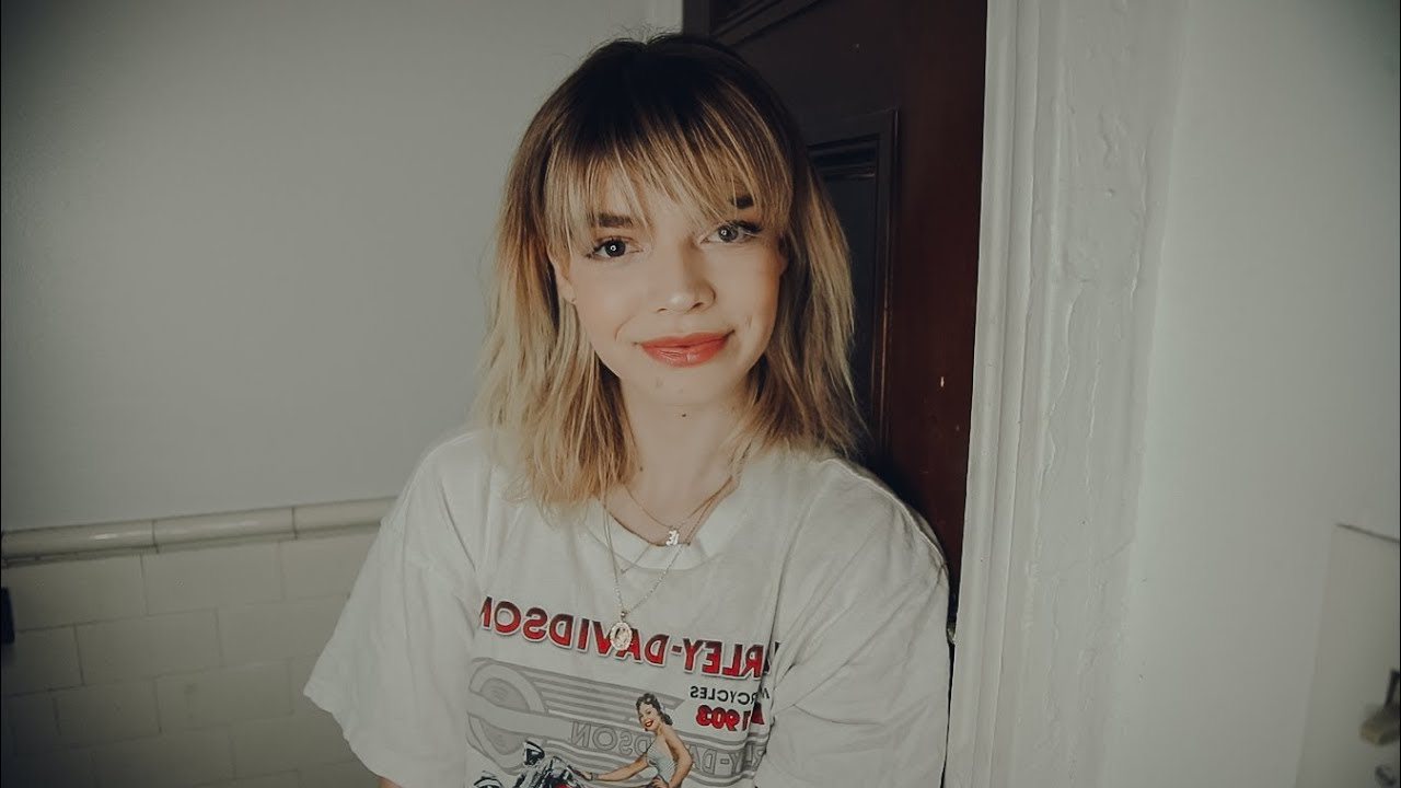 How I Style My Short Hair With Bangs For A Messy Look – Youtube Within Short Haircuts With Longer Bangs (View 12 of 25)