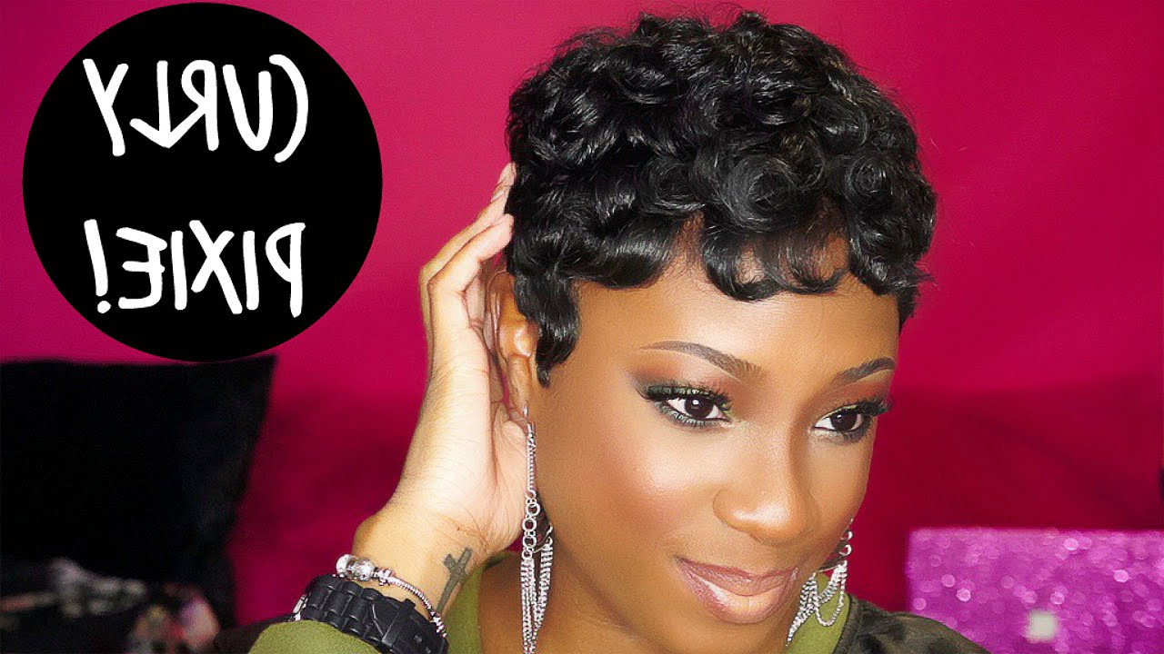 How To: Achieve The Curly Pixie Hairstyle | Lorissa Turner – Youtube Inside Messy Curly Pixie Hairstyles (View 12 of 25)