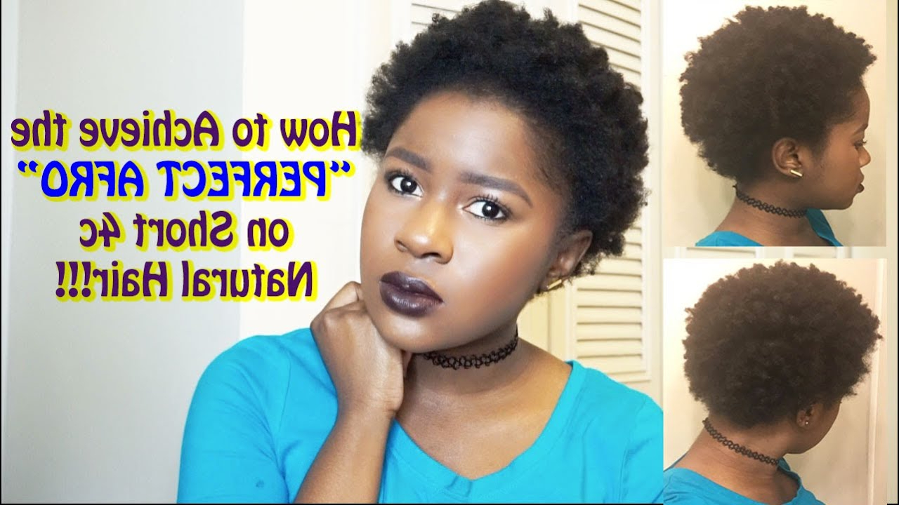 """How To Achieve The """"perfect Afro"""" On Short 4C Natural Hair!!!
