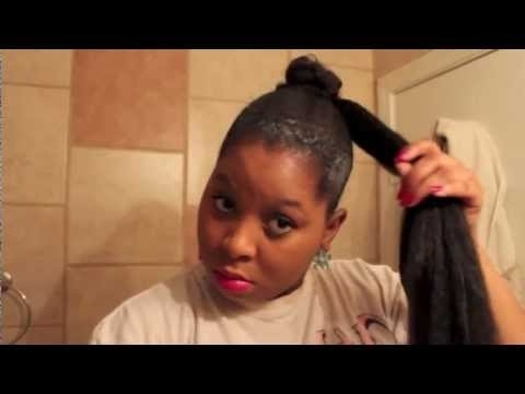 How To Apply A Bun With Jumbo Braiding Hair – Youtube Pertaining To Braid And Bun Ponytail Hairstyles (View 21 of 25)