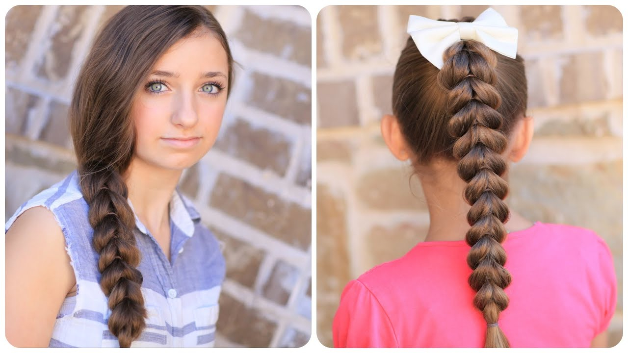 How To Create A Pull Through Braid | Easy Braided Hairstyles – Youtube Within Cool Hairstyles For Short Hair Girl (View 23 of 25)
