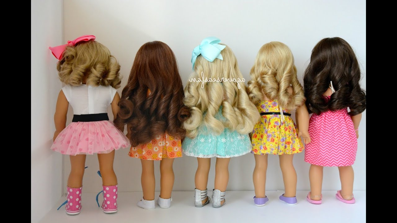 How To Curl American Girl Dolls Hair – Youtube For Hairstyles For American Girl Dolls With Short Hair (View 17 of 25)