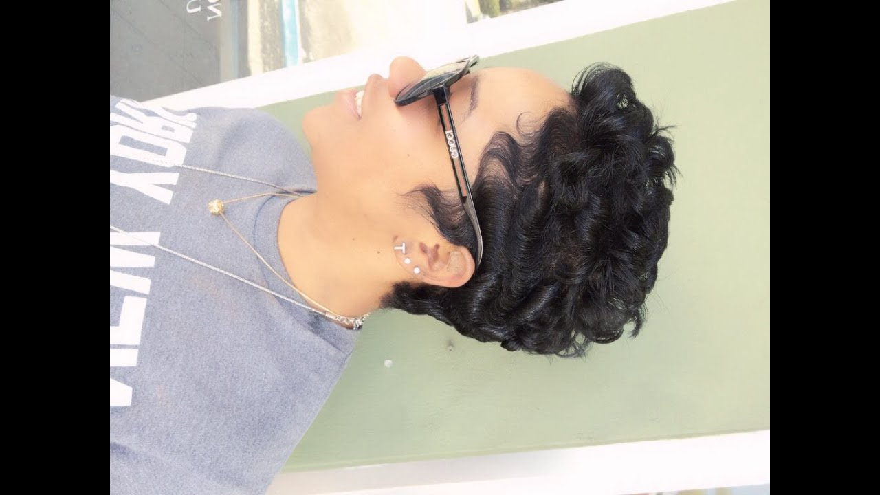 How To Curl Short Hair (Black Hair) – Youtube In Short Black Hairstyles With Tousled Curls (View 17 of 25)