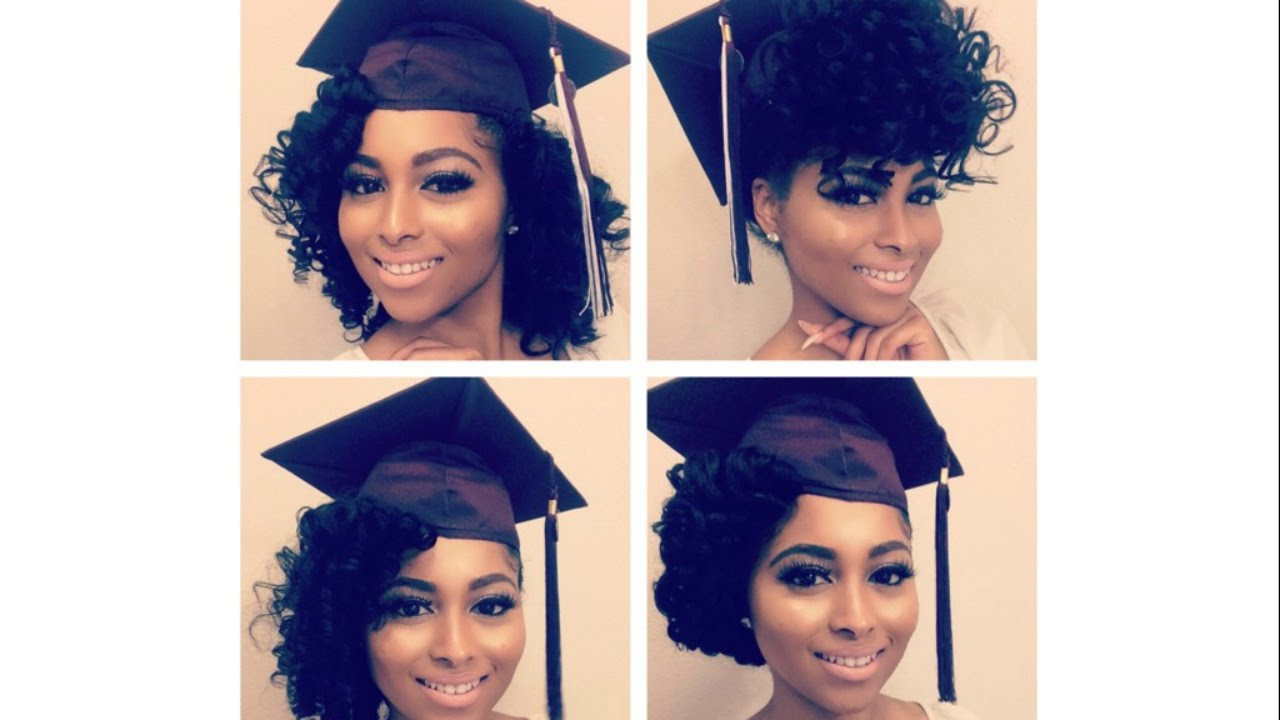 How To| Curly Natural Hair Graduation Cap Styles/prom/special For Hairstyles For Short Hair For Graduation (View 19 of 25)