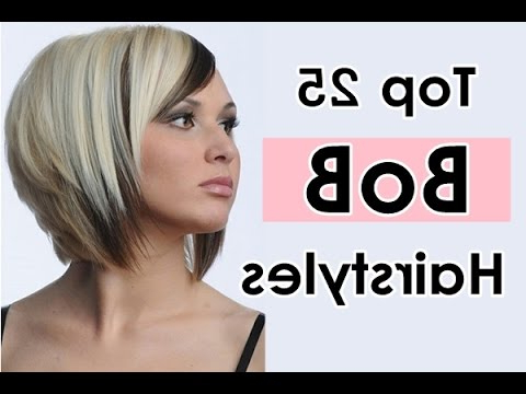 How To Cut A Layered Bob – Haircut Tutorial Stepstep For Short Stacked Bob Blowout Hairstyles (View 19 of 25)
