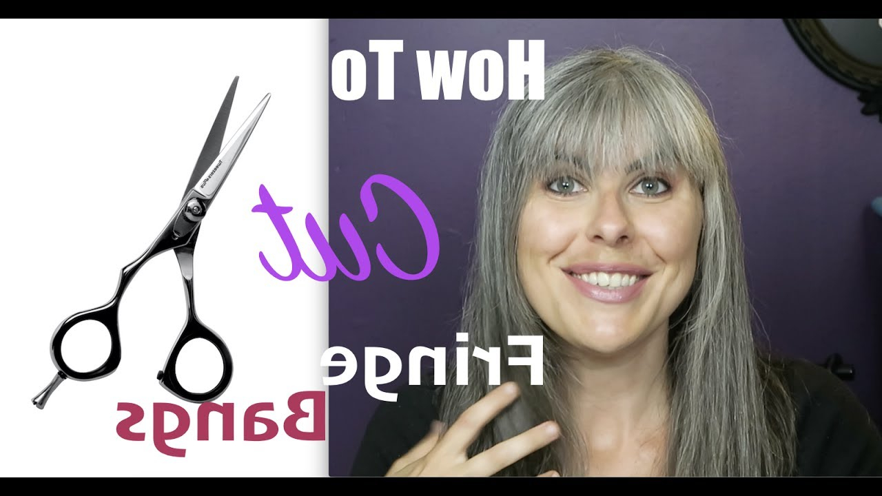 How To Cut Fringe Bangs Diy Small Forehead – Youtube Intended For Short Haircuts For Small Foreheads (View 23 of 25)