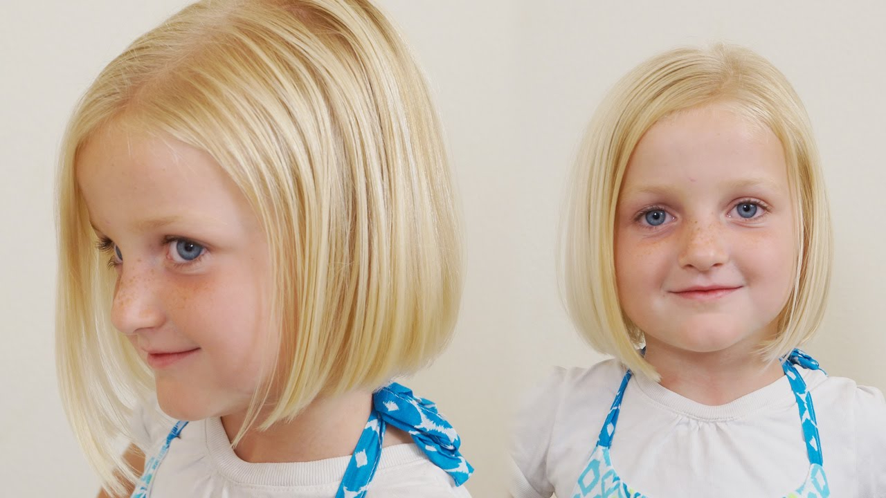 How To Cut Little Girls Hair // Basic Bob Haircut // Short Haircuts For Young Girl Short Hairstyles (View 17 of 25)