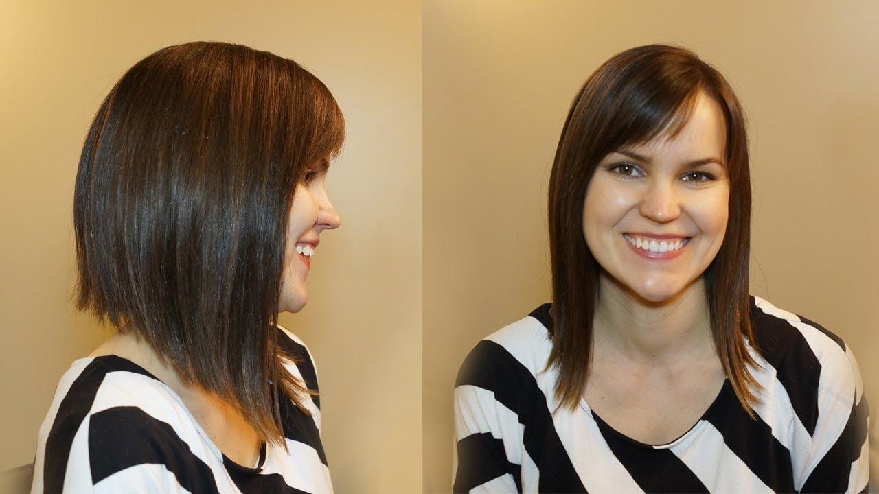 How To Cut Womens Hair // Dramatic Bob Haircut – Youtube For Dramatic Short Haircuts (View 17 of 25)