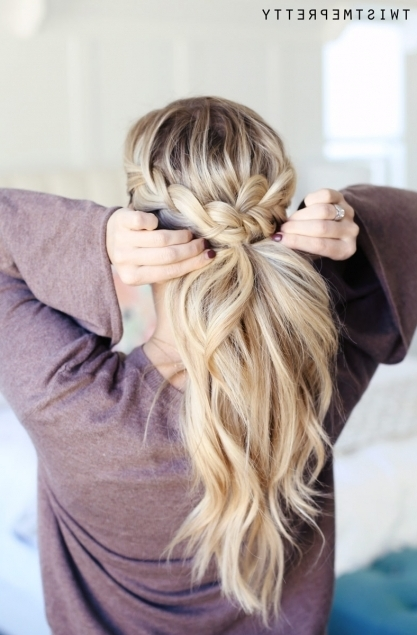 How To Do A Crown Braid (2 Ways) – Twist Me Pretty Inside Braided Crown Pony Hairstyles (View 6 of 25)