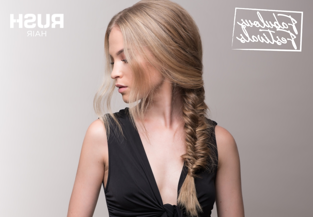How To Do A Fishtail Braid – Fabulous Festival Styles | Rush Hair Within Fabulous Fishtail Side Pony Hairstyles (View 25 of 25)