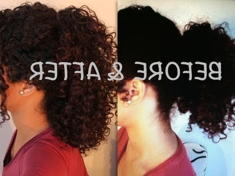 How To: Elongate Your Short Ponytail | Sunkissalba – Youtube Regarding Naturally Curly Ponytail Hairstyles (View 17 of 25)