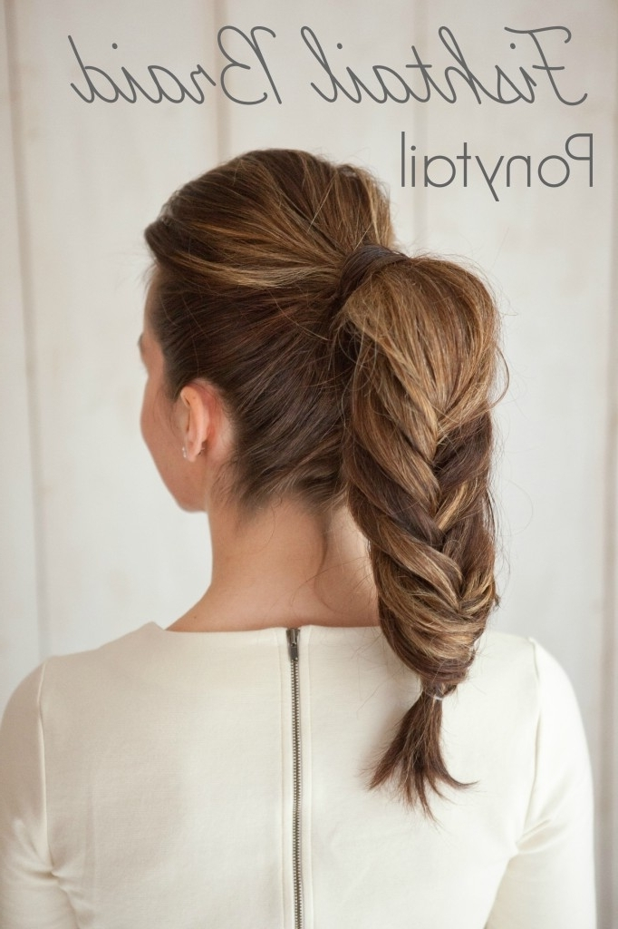 How To Fishtail Braid Ponytailsouthern Belle Beauty | Bride Link In Fishtail Braid Ponytails (View 24 of 25)