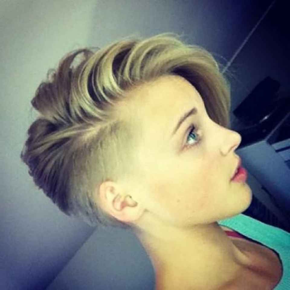 How To Grow Out A Pixie To A Softer Look | Hair Styles | Pinterest Within Short Haircuts With One Side Shaved (View 9 of 25)