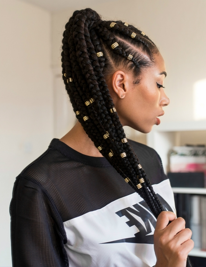 How To Maintain Your Braids This Summer | Naturallycurly Within Beach Friendly Braided Ponytails (View 18 of 25)