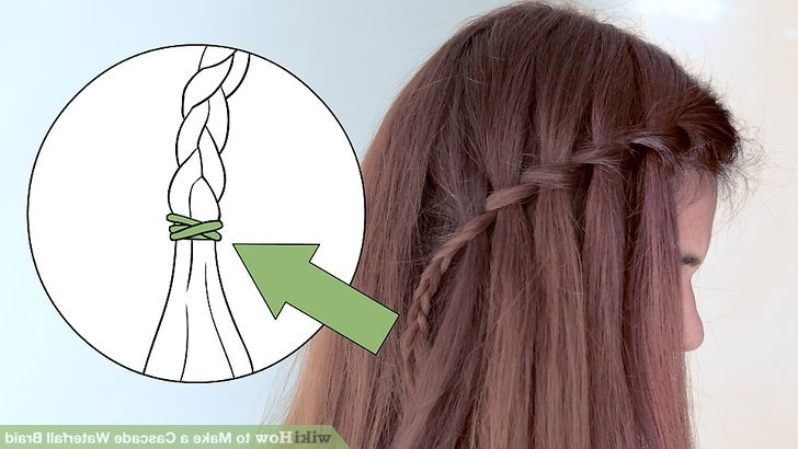 How To Make A Cascade Waterfall Braid: 10 Steps (With Pictures) With Regard To Cascading Braided Ponytails (View 16 of 25)