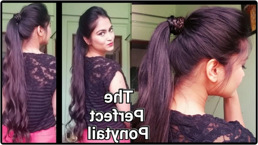 How To Make Hairstyle At Home: 10 Super Easy Hairstyle At Home: Intended For Straight Triple Threat Ponytail Hairstyles (View 14 of 25)