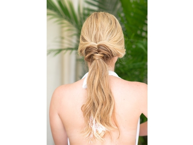 How To Make Your Hair Look Amazing All Day At The Beach Or Pool With Beach Friendly Braided Ponytails (View 20 of 25)