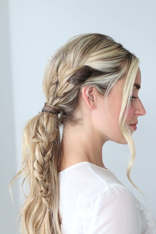 How To Master The Triple Braid Pony | Braided Pony, Pony And Braided Intended For Triple Braid Ponytail Hairstyles (View 23 of 25)