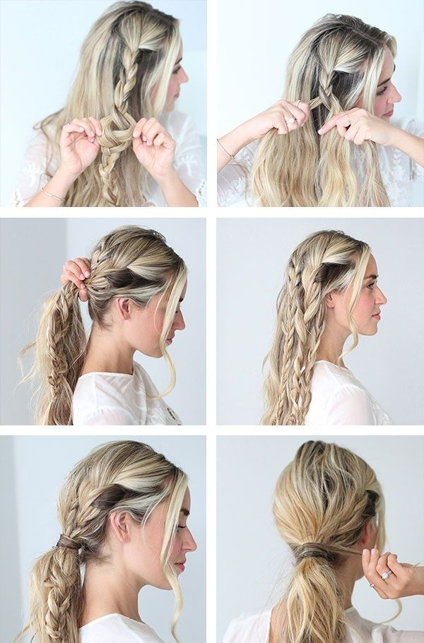 How To Master The Triple Braid Pony | New On Glitter Guide Within Triple Braid Ponytail Hairstyles (View 13 of 25)