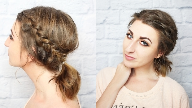 How To: Messy Braided Ponytail For Short Hair With Regard To Messy Braid Ponytail Hairstyles (View 11 of 25)