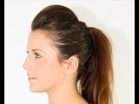 How To: Mohawk / Faux Hawk Hairstyle Hair Tutorial From Www With Regard To Faux Hawk Ponytail Hairstyles (View 4 of 25)