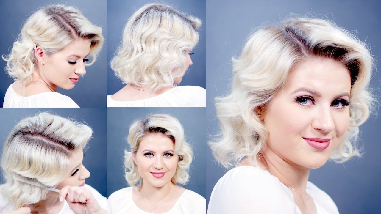 How To: Retro Finger Waves Short Hairstyles | Milabu – Youtube With Vintage Hairstyle For Short Hair (View 2 of 25)