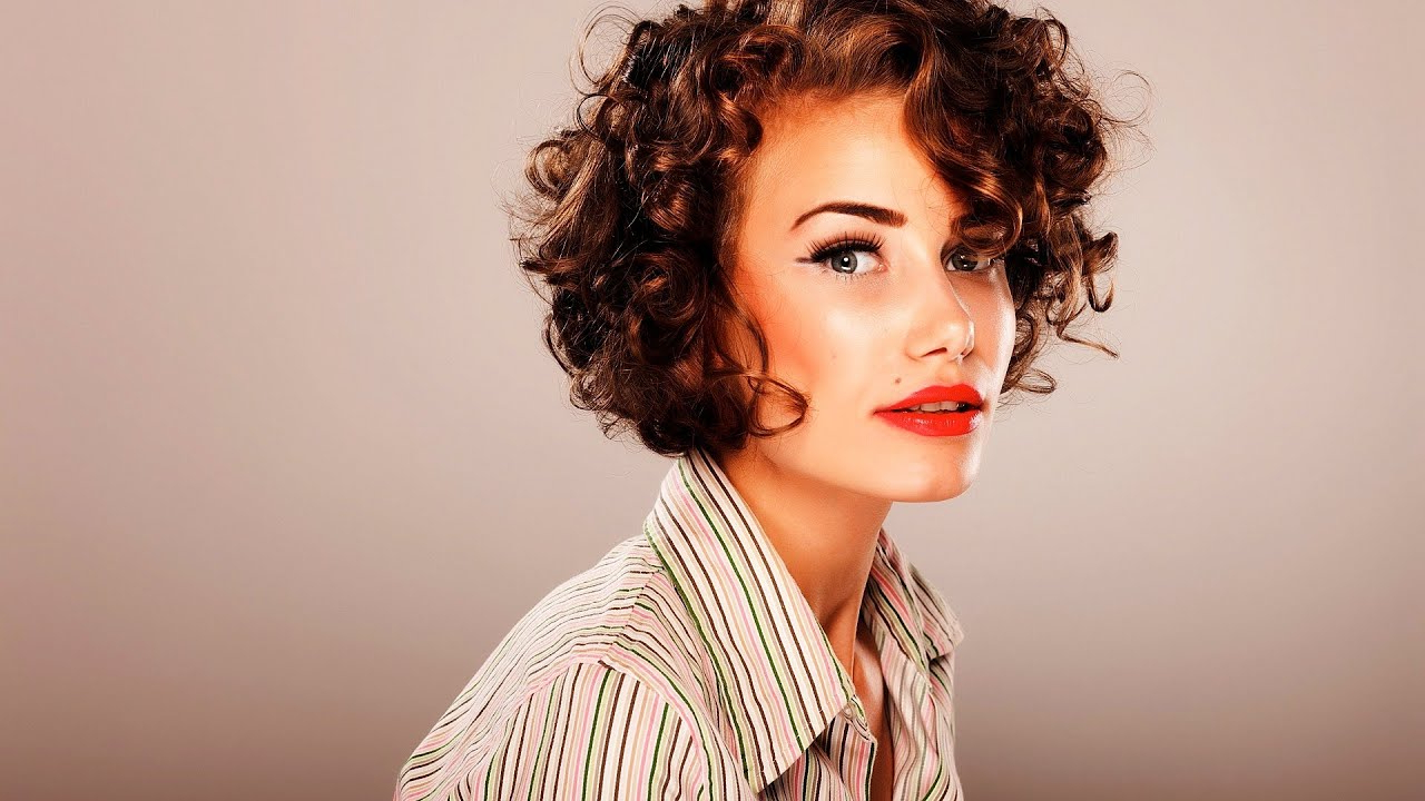 How To Style Short Curly Hair   Short Hairstyles – Youtube Regarding Short Haircuts For Very Curly Hair (View 11 of 25)