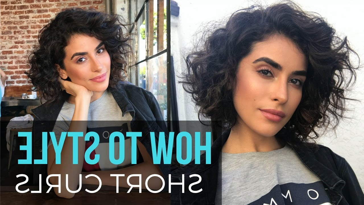 How To Style Short Curly Hair | Wet To Dry Tutorial – Youtube Regarding Blow Dry Short Curly Hair (View 12 of 25)