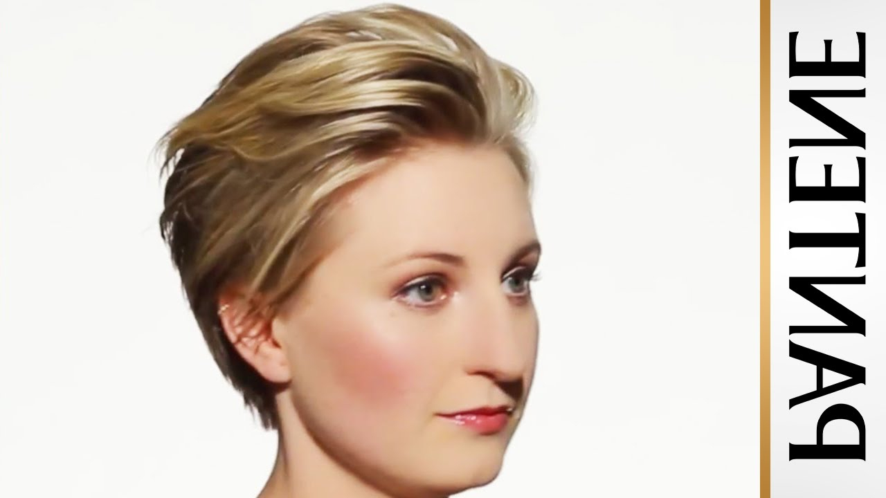 How To Style Short Hair: Swept Back Pixie Cut – Youtube Within Side Swept Short Hairstyles (View 22 of 25)