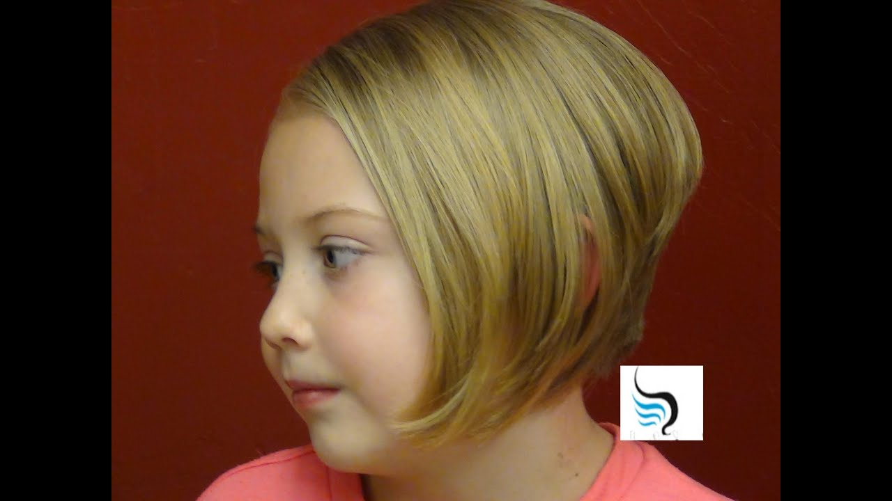 How To (Style Stacked Bob Cut Aline Hairstyles) On Little Girls Pertaining To Young Girl Short Hairstyles (View 15 of 25)