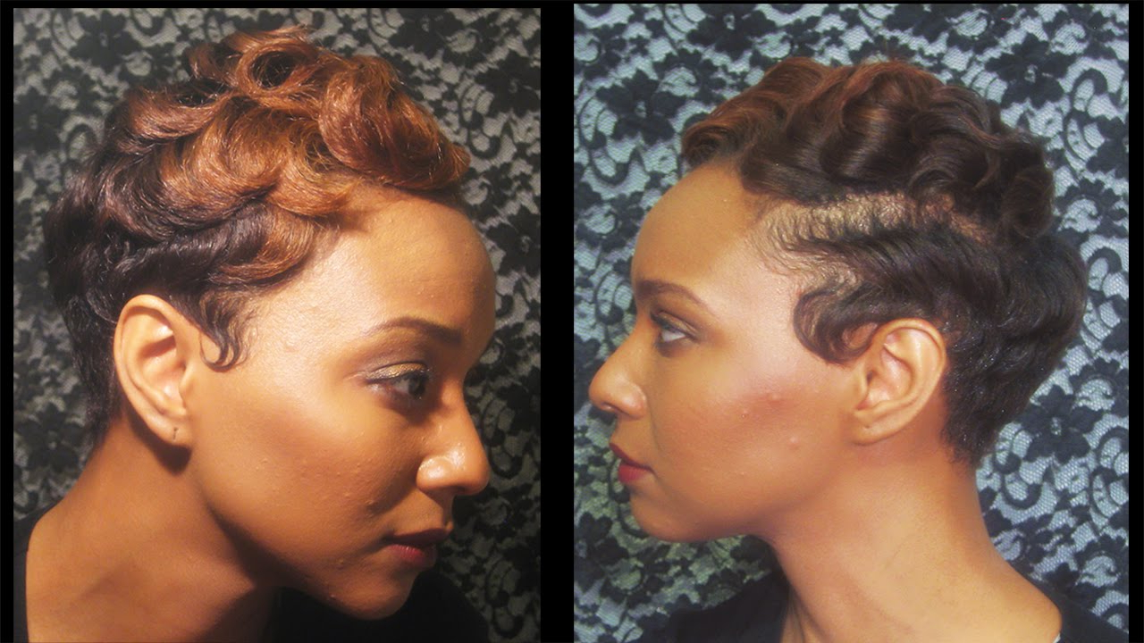 How To: Watch How I Finger Wave And Curl My Short Hair – Youtube With Regard To Soft Short Hairstyles For Black Women (View 20 of 25)