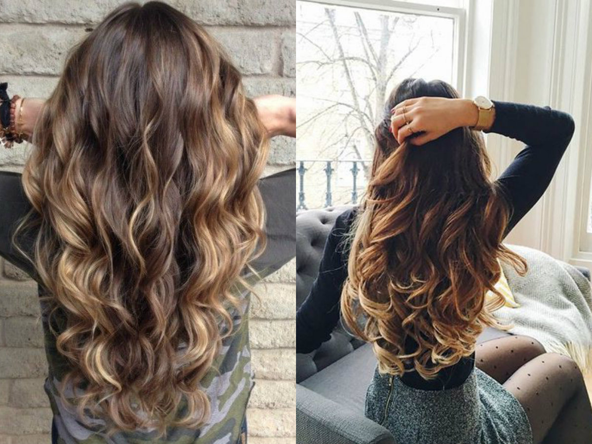 Hypnotizing Long Brown Hair With Highlights | Hairdrome Regarding Brown Curly Hairstyles With Highlights (View 12 of 25)