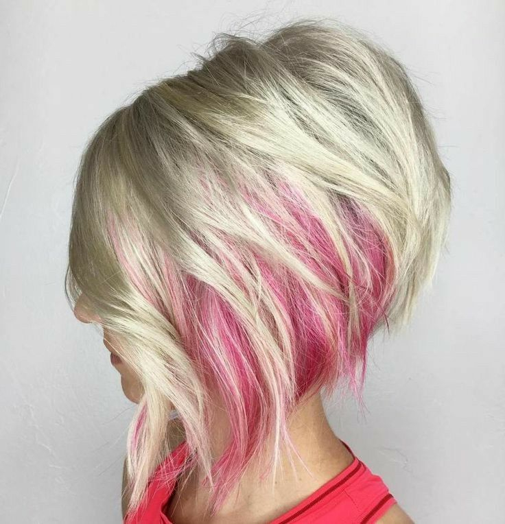 I Love This!!! Ice Blonde With Pink Peek A Boo (View 23 of 25)