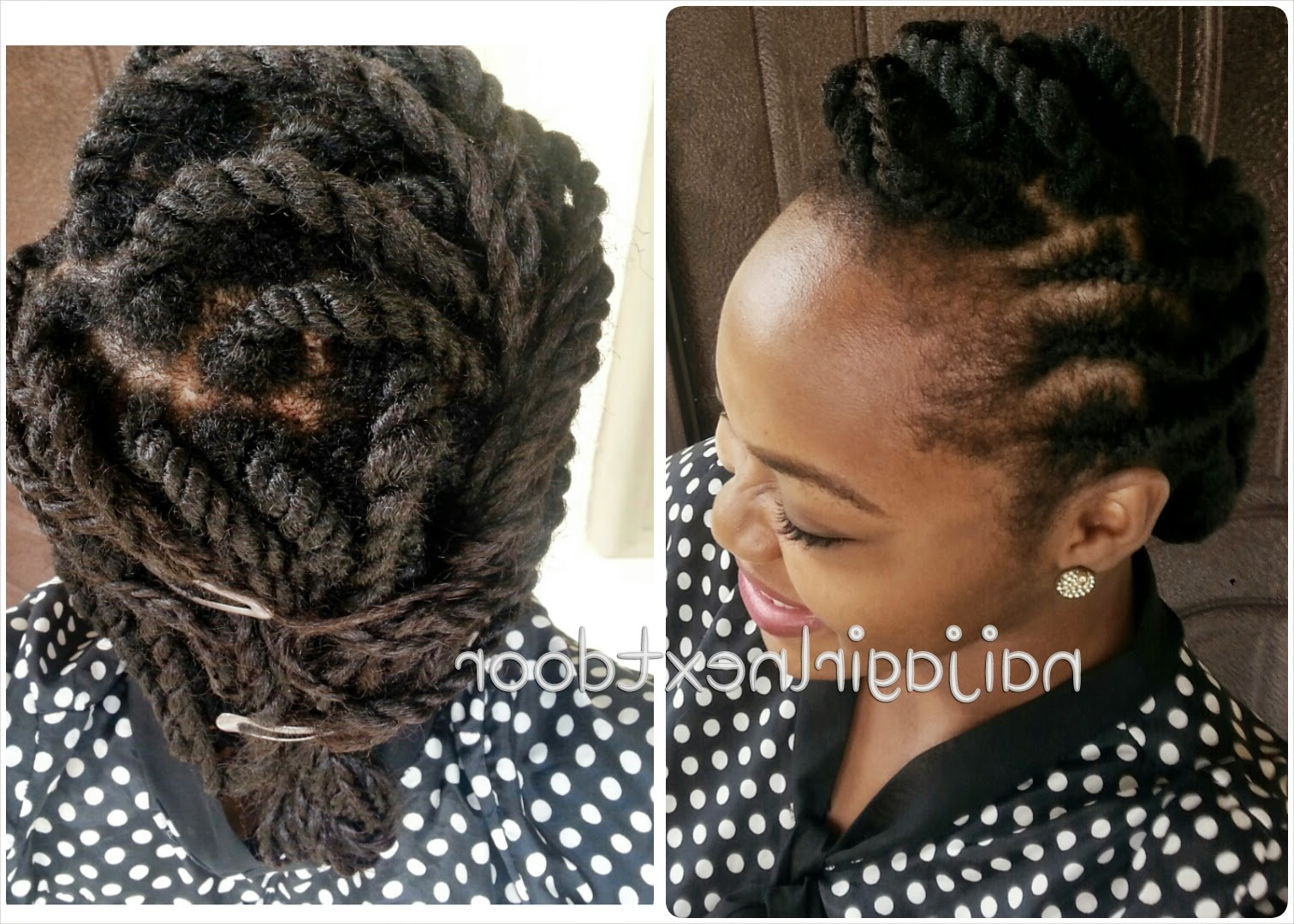 I Style: Two Strand Twists On Transitioning Hair | Naija Girl Next Door Intended For Short Haircuts For Transitioning Hair (View 11 of 25)