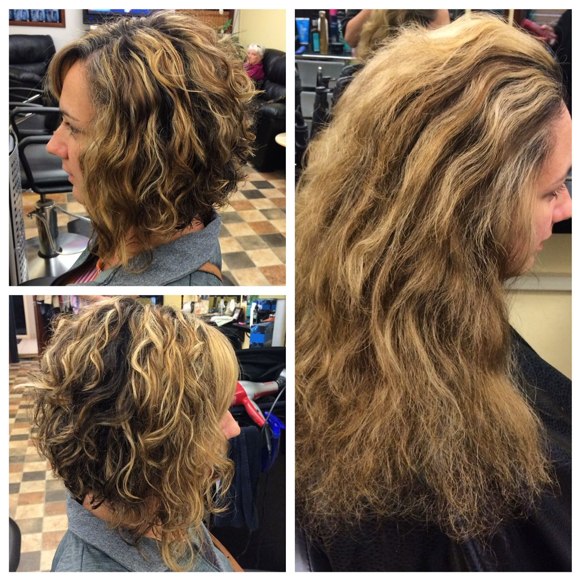 Featured Photo of Curly Angled Bob Hairstyles