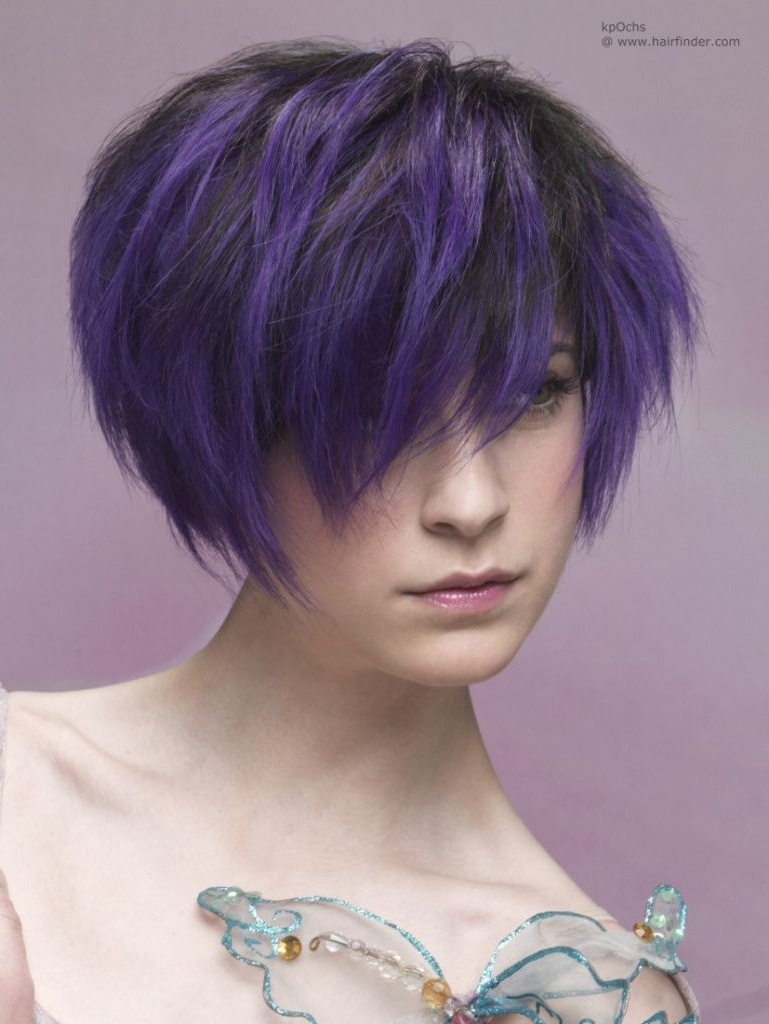 Image Result For Purple Black Short Hair | Hair | Pinterest | Short Hair Within Purple And Black Short Hairstyles (View 8 of 25)