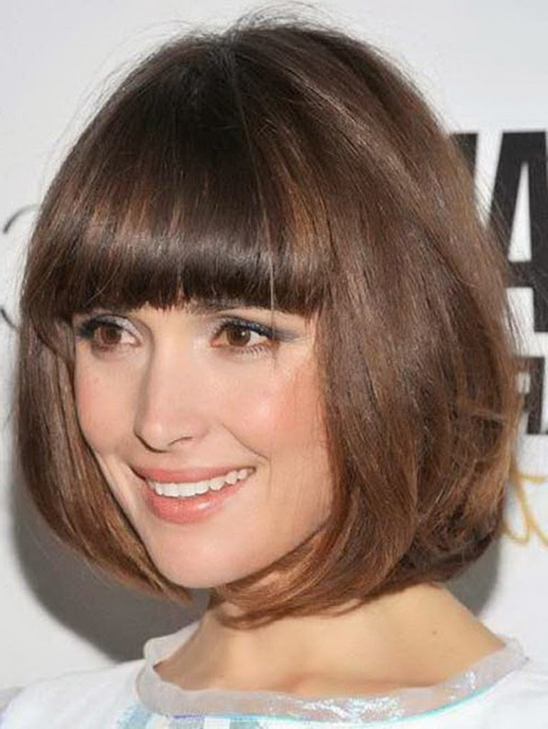 Imágenes De Short Hairstyle With Bangs For Round Face For Short Hairstyles With Bangs For Round Face (View 3 of 25)