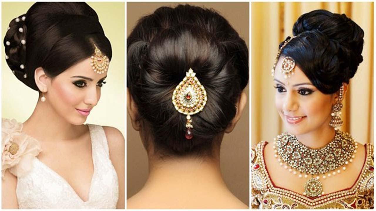 Indian Bun Hairstyles For Medium Hair | Traditional Hairstyles For With Short Hairstyles For Indian Wedding (View 22 of 25)