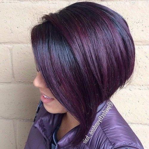 It's All The Rage: Mahogany Hair Color | Hair | Pinterest | Hair Throughout Stacked Black Bobhairstyles  With Cherry Balayage (View 6 of 25)