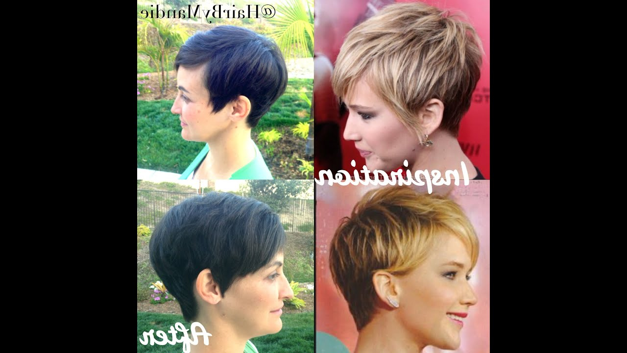 Jennifer Lawrence Haircut Tutorial | Short Pixie | Really Cute - Youtube intended for Jennifer Lawrence Short Hairstyles
