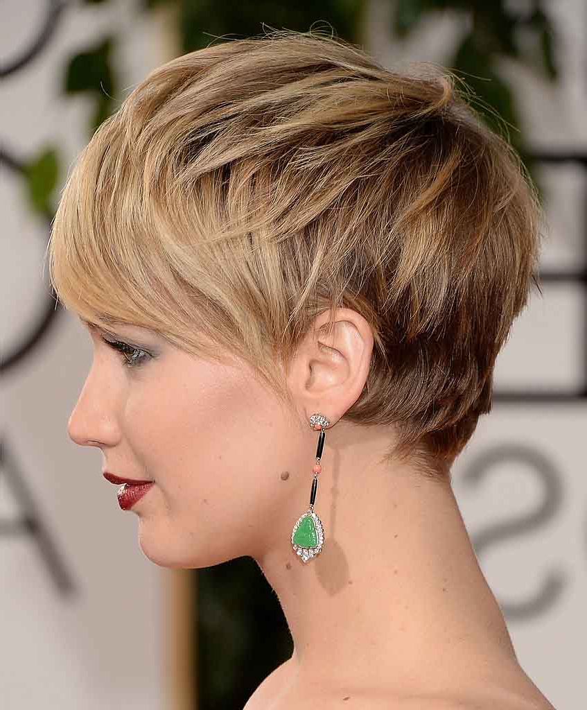 Jennifer Lawrence Hairstyles That Prove She Is The Ultimate Fashion Diva Within Jennifer Lawrence Short Hairstyles (View 7 of 25)