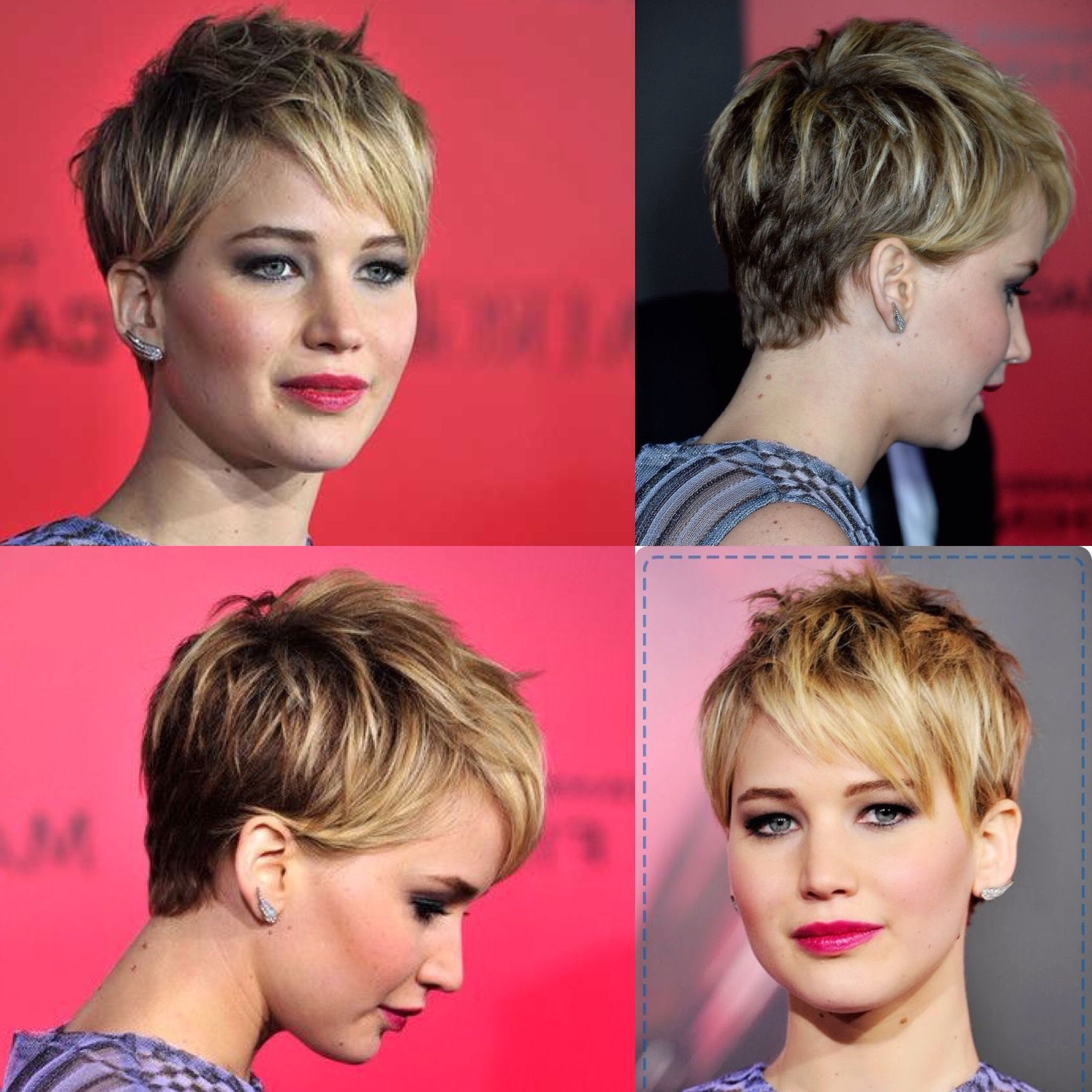 Jennifer Lawrence Pixie Cut | Hair In 2018 | Pinterest | Hair, Short Inside Jennifer Lawrence Short Haircuts (View 2 of 25)