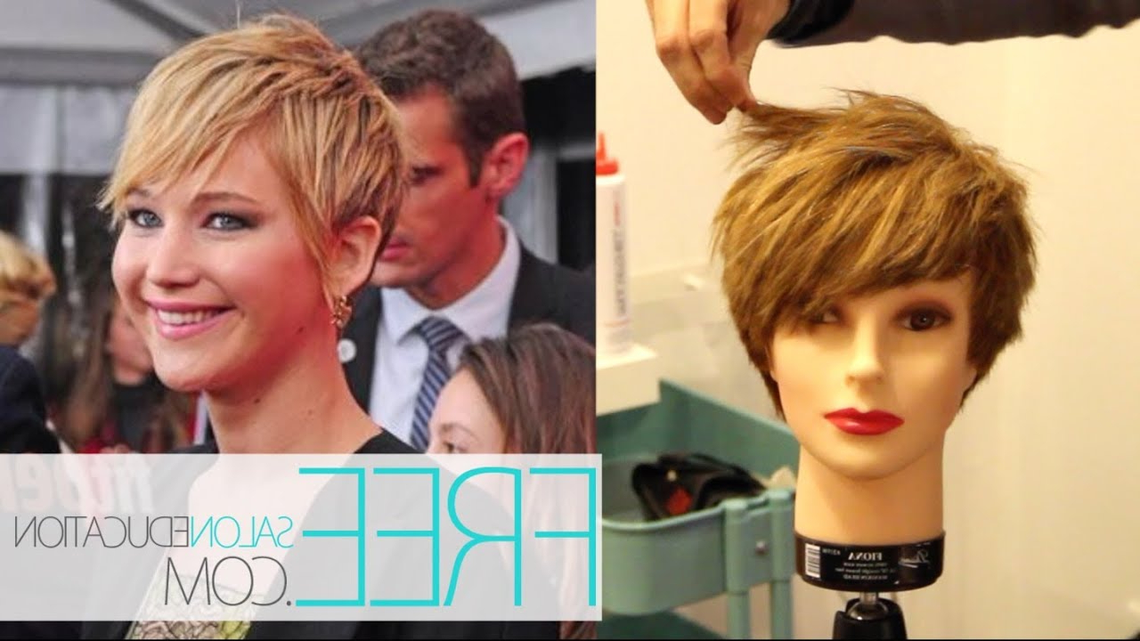 Jennifer Lawrence Pixie Haircut - How To Cut The Jennifer Lawrence intended for Jennifer Lawrence Short Hairstyles