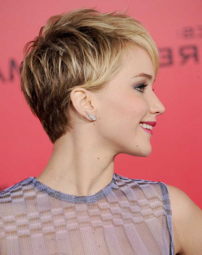 Jennifer Lawrence's Best Pixie Hairstyles | Popsugar Beauty In Jennifer Lawrence Short Haircuts (View 5 of 25)
