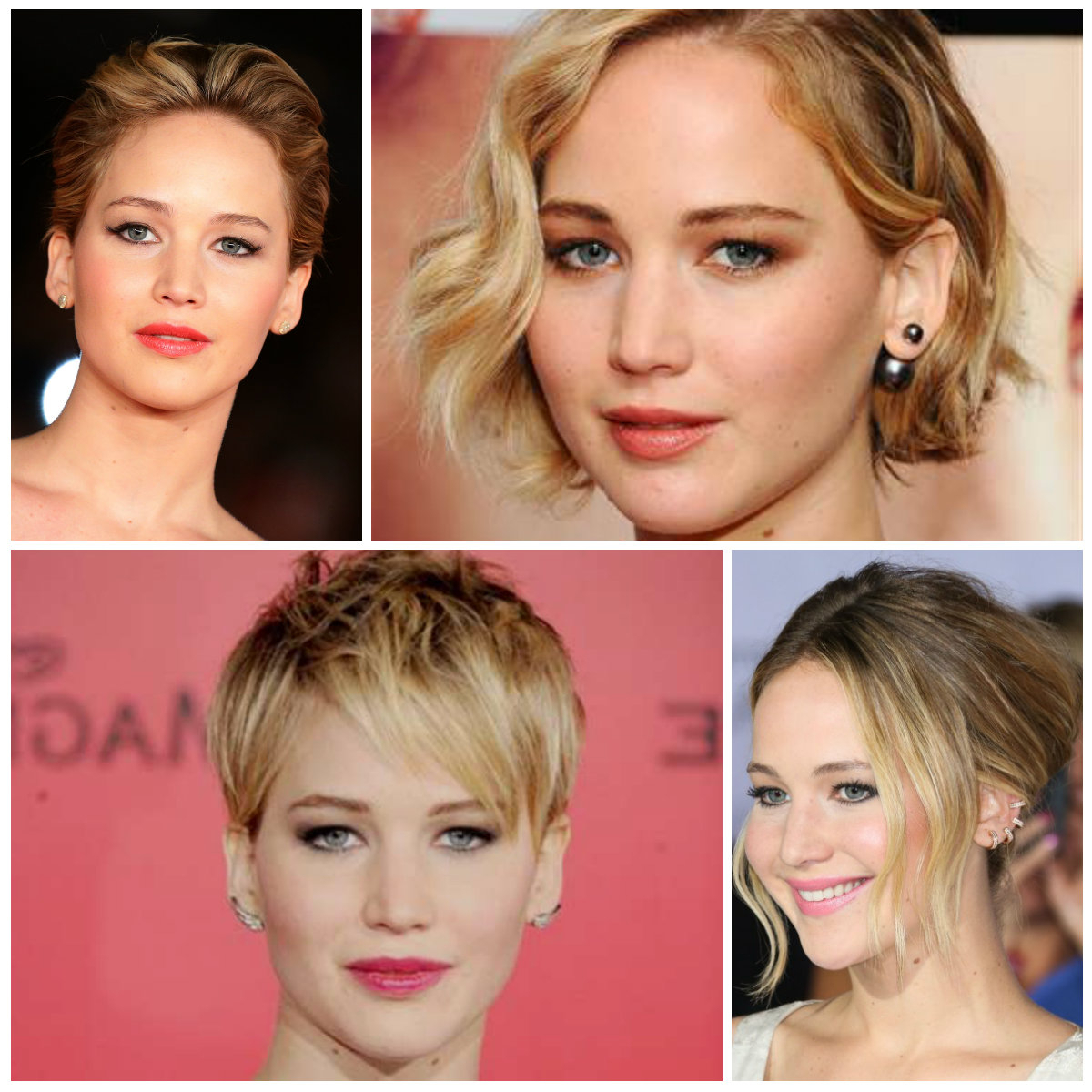 Jennifer Lawrence's Best Short Hairstyles To Copy In 2016 | 2019 regarding Jennifer Lawrence Short Hairstyles
