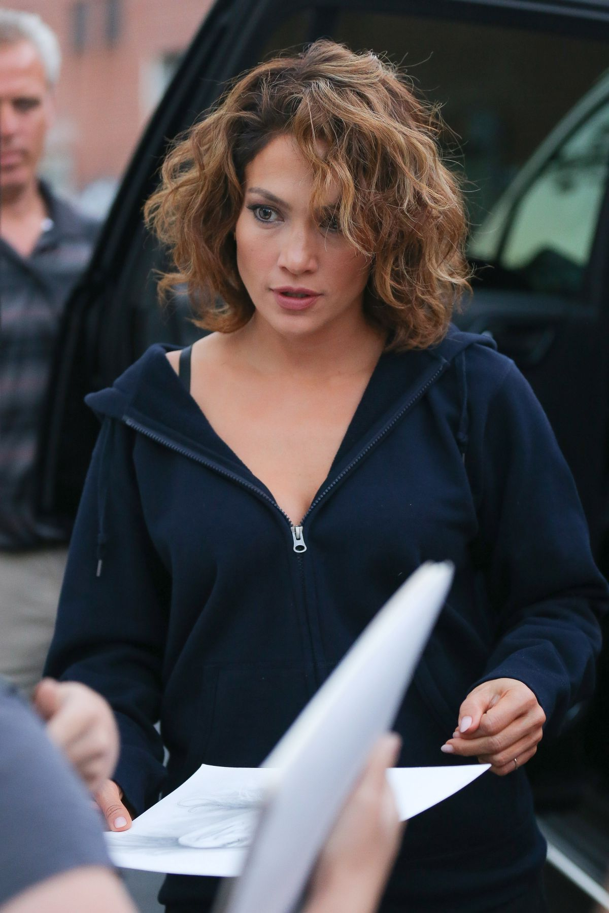 Jennifer Lopez At Shades Of Blue Set In New York 07/23/2015 | Wavy With Jennifer Lopez Short Haircuts (View 8 of 25)
